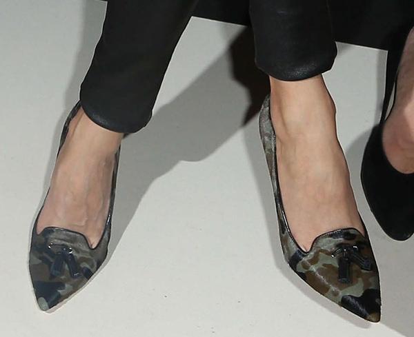 Olivia Palermo wearing Gianvito Rossi pumps