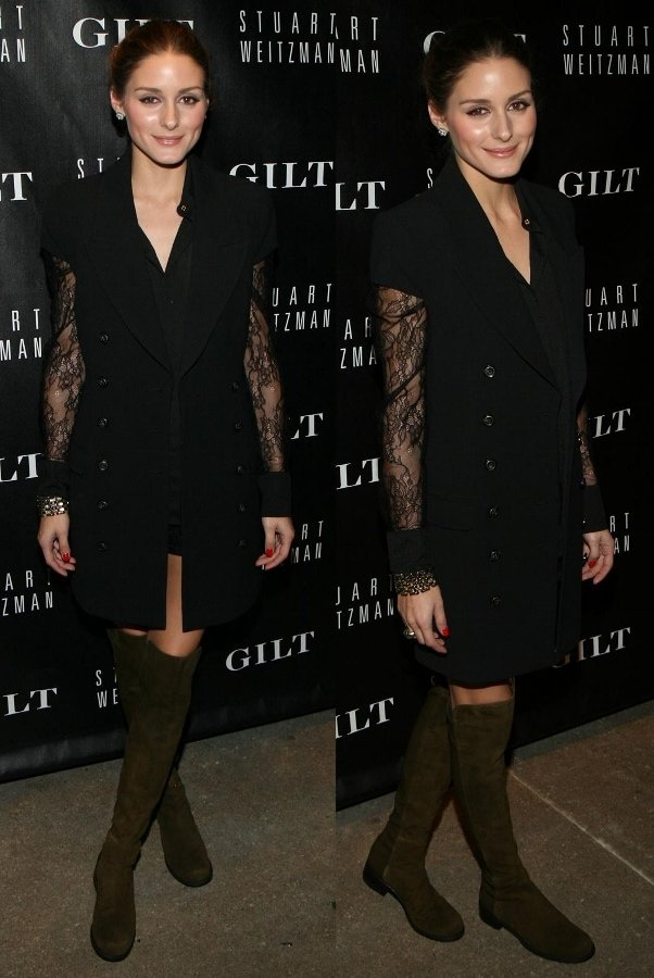 Olivia Palermo at the Stuart Weitzman and Gilt launch party in New York on October 16, 2013
