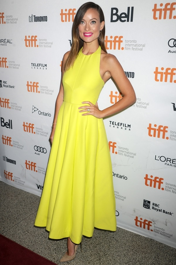 Olivia Wilde at the 'Third Person' premiere during the Toronto International Film Festival in Toronto on September 9, 2013