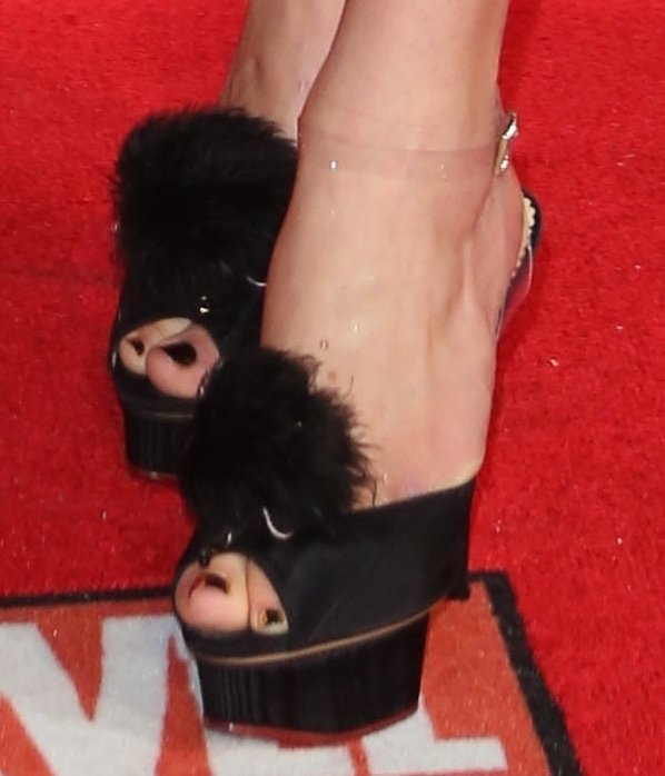 """Ophelia Lovibond's Charlotte Olympia """"Colette"""" sandals"""