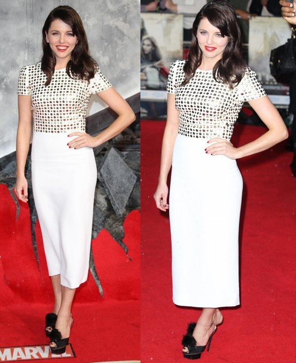 Ophelia Lovibond at the premiere of 'Thor: The Dark World' in London, England, on October 22, 2013