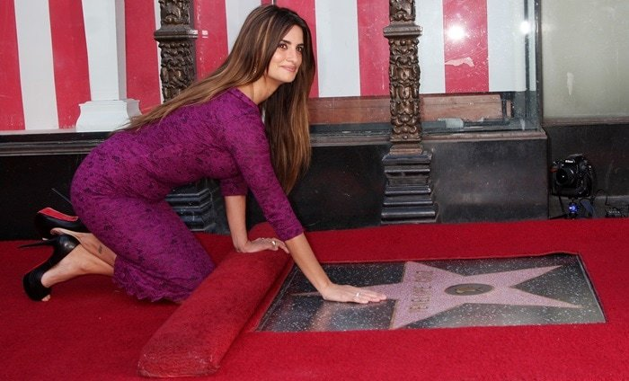 Penelope Cruz received the 2,436th Hollywood star on the Hollywood Walk of Fame on Hollywood Boulevard in Los Angeles on April 1, 2011