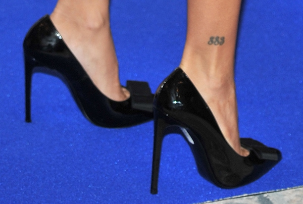 Penelope Cruz shows off her mysterious 883 ankle tattoo