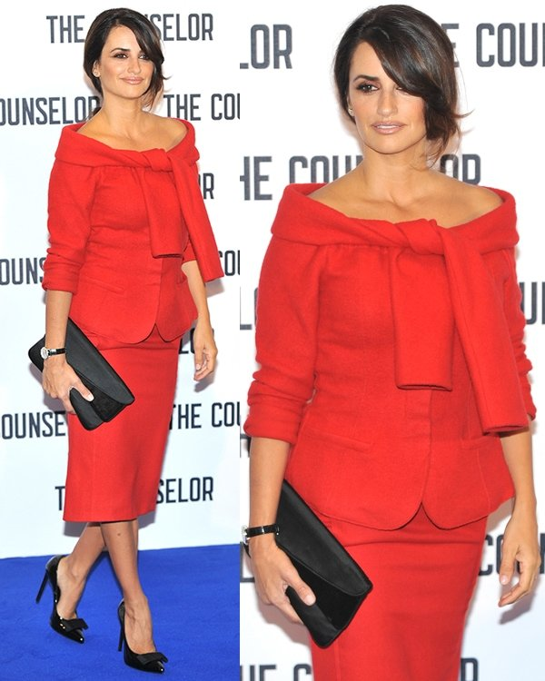Penelope Cruz at The Counselor press junket and photo call held at The Dorchester in London on October 5, 2013