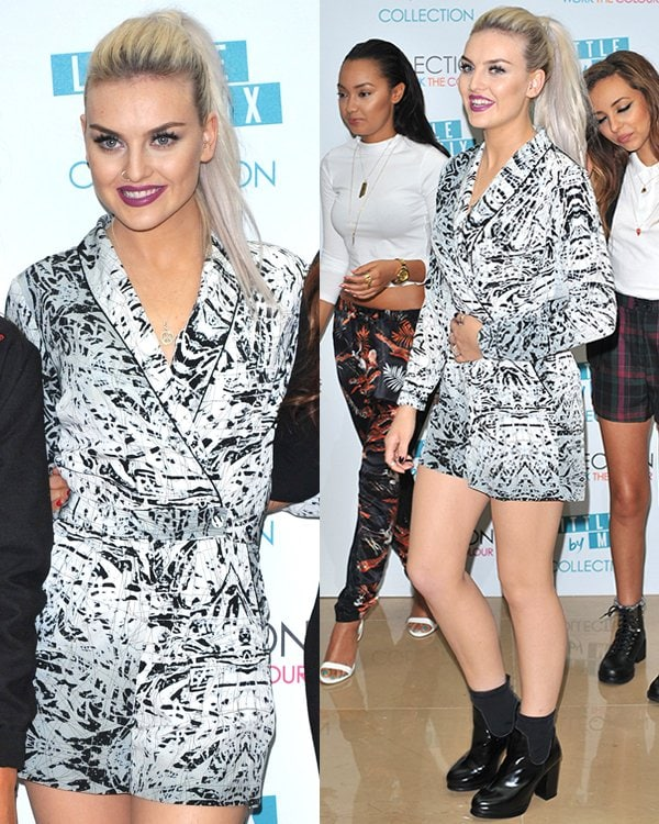 Perrie Edwards attends the Little Mix makeup collection launch at Mayfair Hotel