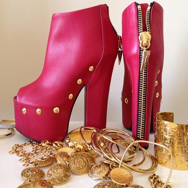 Pink Giuseppe Zanotti heels