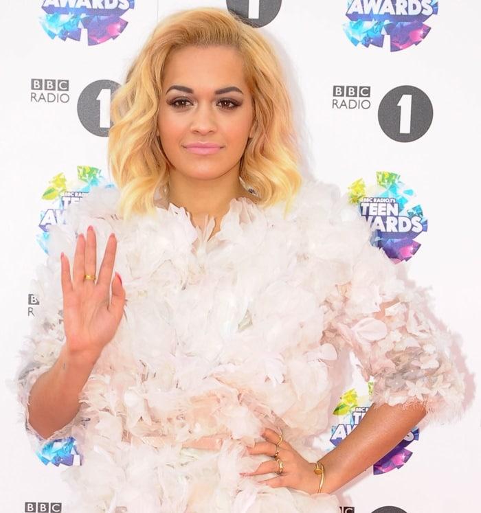 Rita Ora at the BBC Radio 1 Teen Awards held at Wembley Arena in London on November 3, 2013