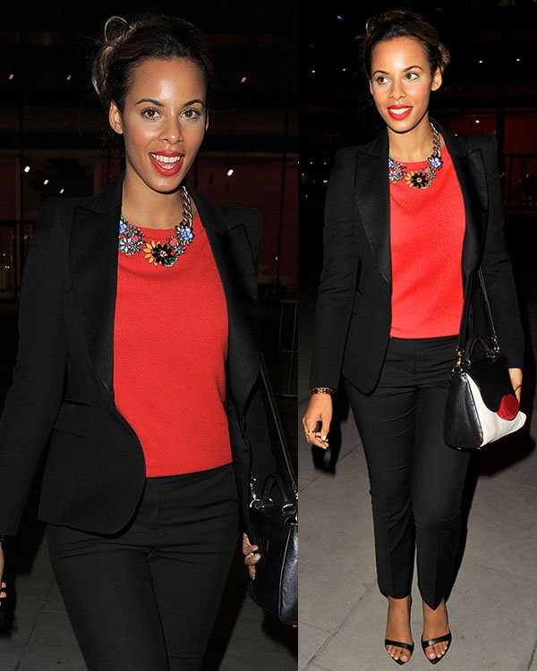 Rochelle Humes of The Saturdays launching their new album, Living for the Weekend, at the Google Hangout in London on October 8, 2013