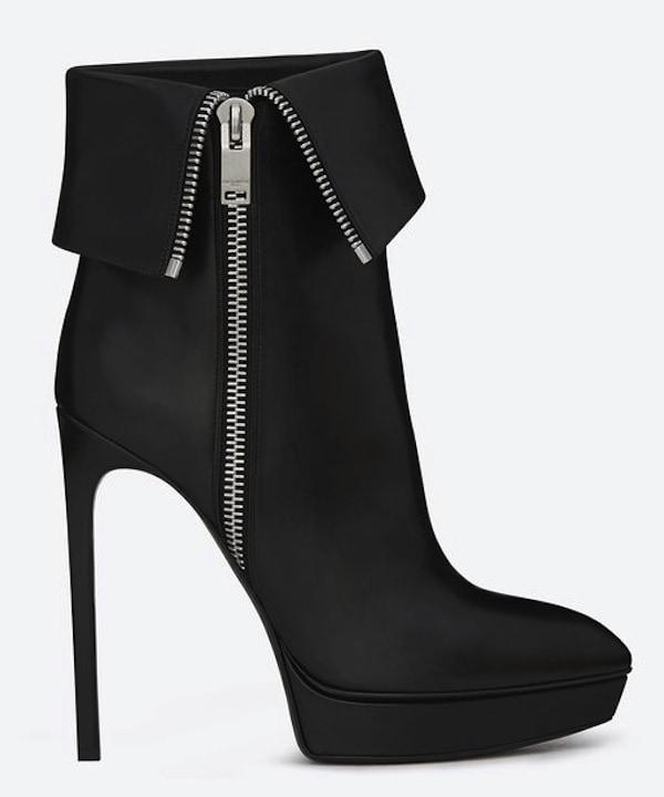 Saint Laurent Janis Side-Zip Ankle Boots