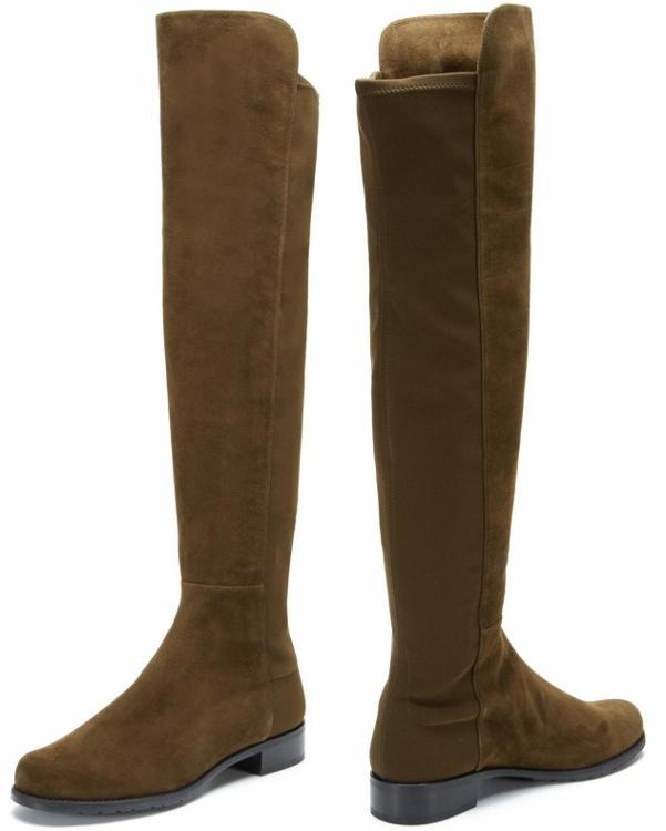 Stuart Weitzman '5050' Boots in Olive Suede