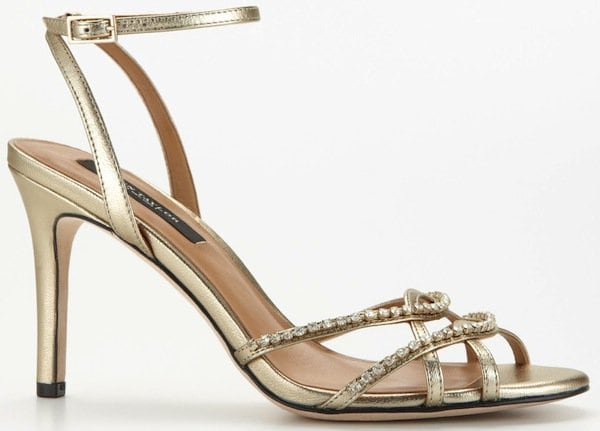 Ann Taylor Strappy Crystal Sandals