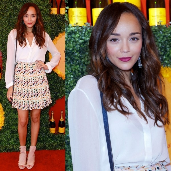 Ashley Madekwe at the Third Annual Veuve Clicquot Polo Classic event held at Will Rogers State Historic Park in Pacific Palisades, California, on October 6, 2012
