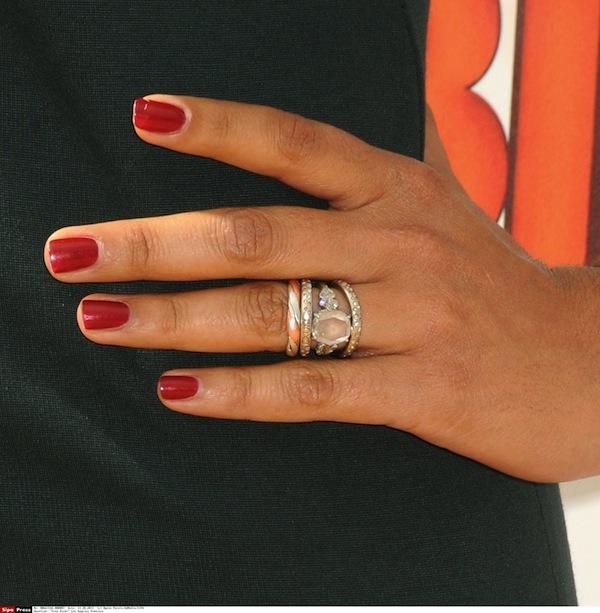 Camila Alves'beautiful assortment of rings