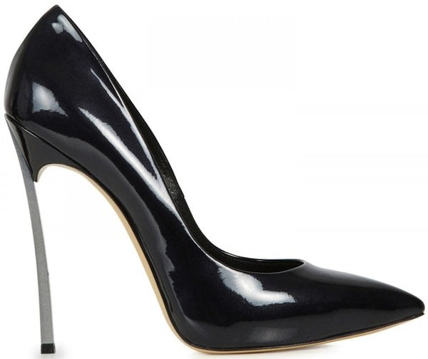 "Casadei ""Blade"" Patent Leather Pumps in Black"