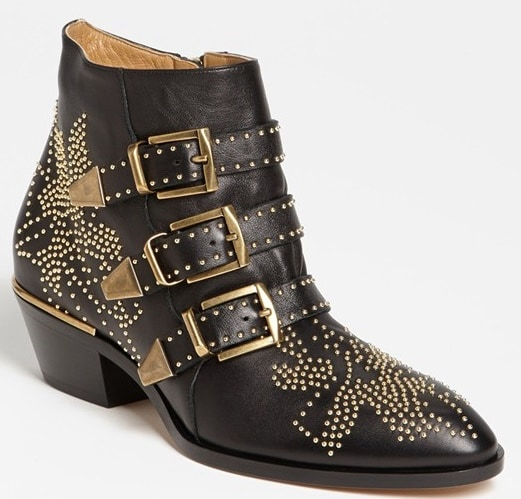 Chloe Susanna Studded Buckle Boots