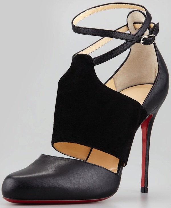 Christian Louboutin Trotter Banded Ankle-Wrap Pumps