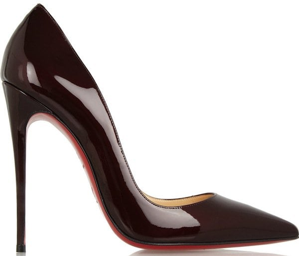 "Christian Louboutin ""So Kate"" Pumps in Burgundy"