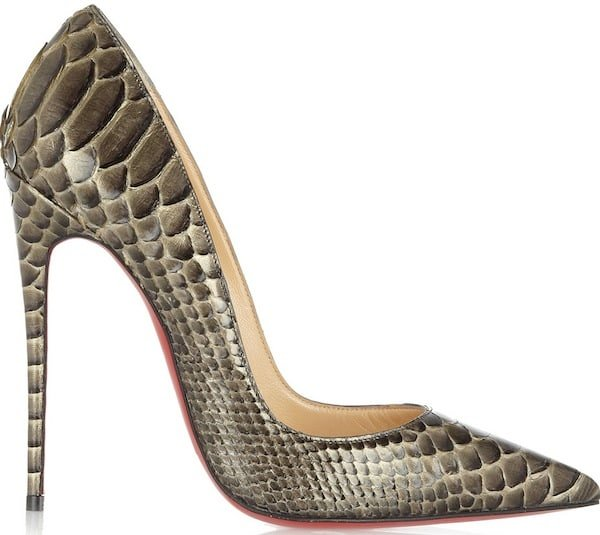 "Christian Louboutin ""So Kate"" Python Pumps"