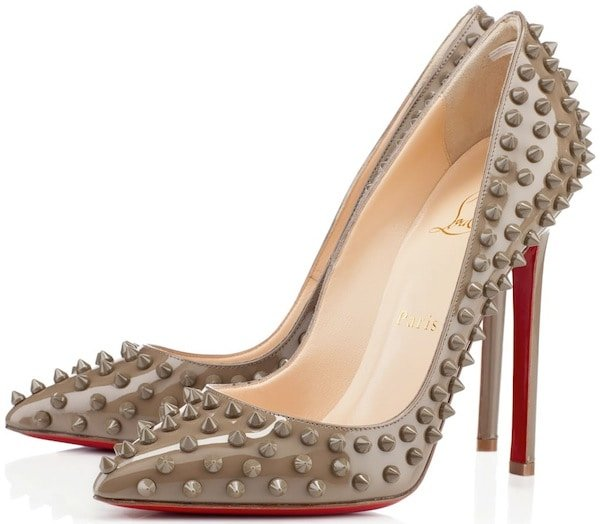 "Christian Louboutin ""Pigalle Spikes"" in Grege"