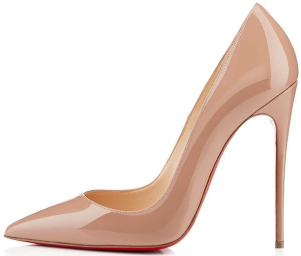 "Christian Louboutin ""So Kate"" Nude Pumps"