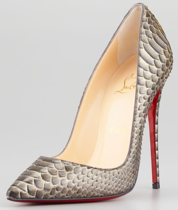 "Christian Louboutin ""So Kate"" Pumps in Python"