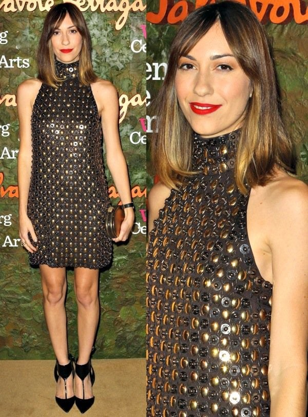 Gia Coppola in halter neck mini dress at the 2013 Wallis Annenberg Center for the Performing Arts Inaugural Gala