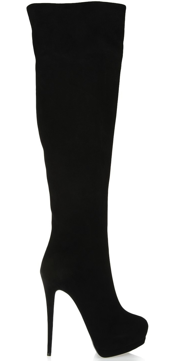 Giuseppe Zanotti Black Suede Thigh-High Boots