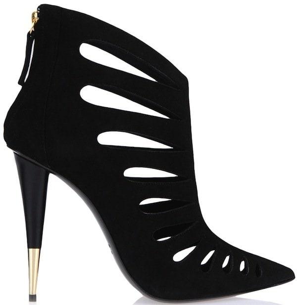 Giuseppe Zanotti Cutout Black Suede Ankle Boots