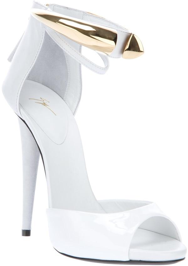 Giuseppe Zanotti Metallic Detail Ankle-Strap Sandals