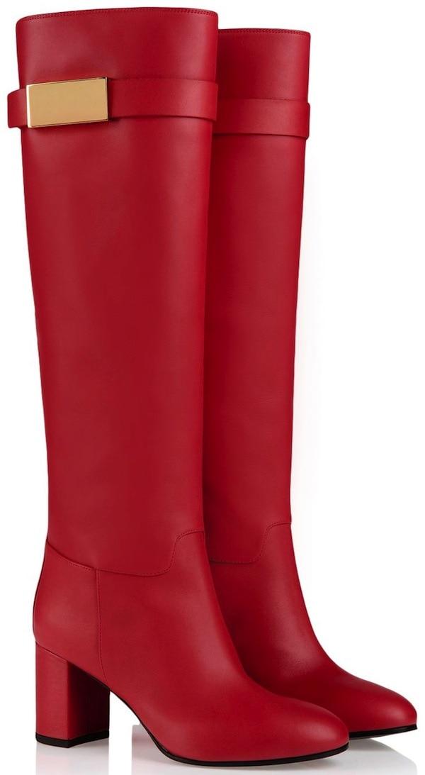 Giuseppe Zanotti Red Nappa Boots