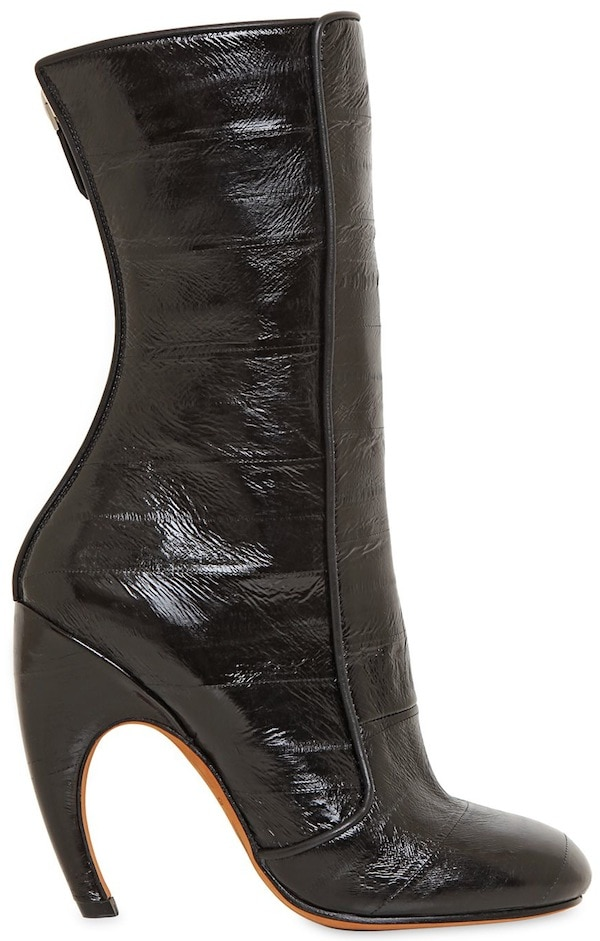 Givenchy Black 105mm Eel Skin Boots