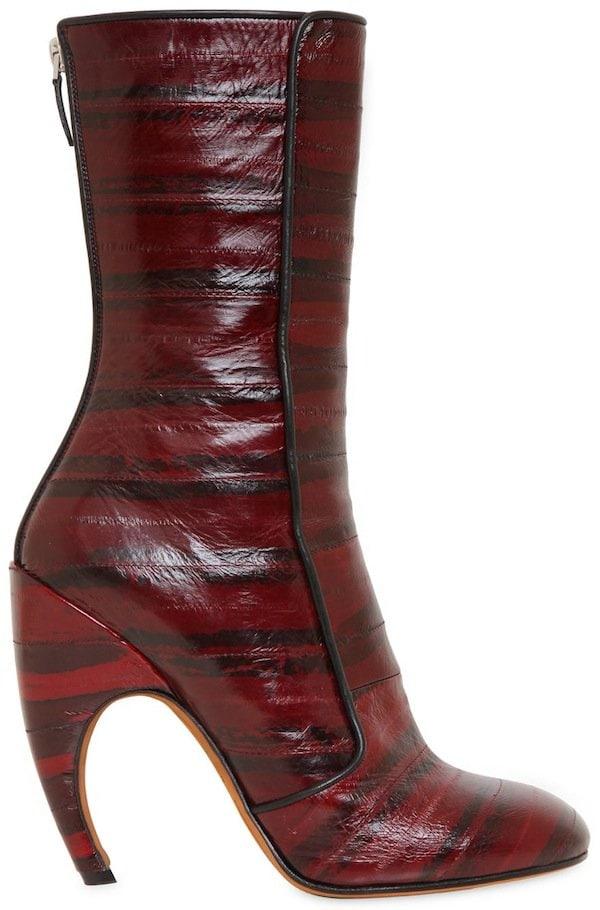 Givenchy Burgundy Eel Skin Boots