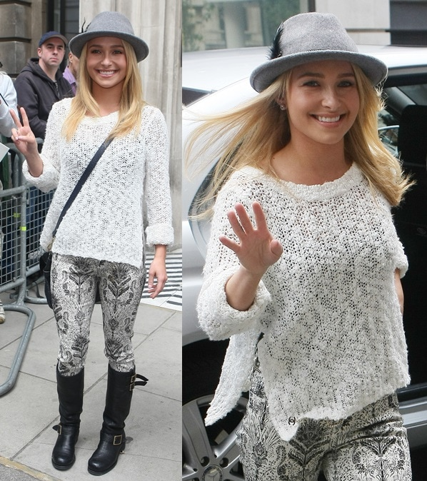 Hayden Panettiere arriving at the BBC Radio 2 studios in London on June 7, 2013