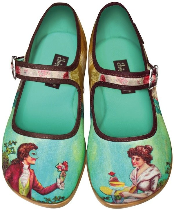 Chocolaticas Courtly Poetry Mary Jane Flats