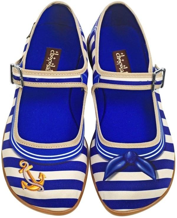"Chocolaticas ""Sailor"" Mary Jane Flats"