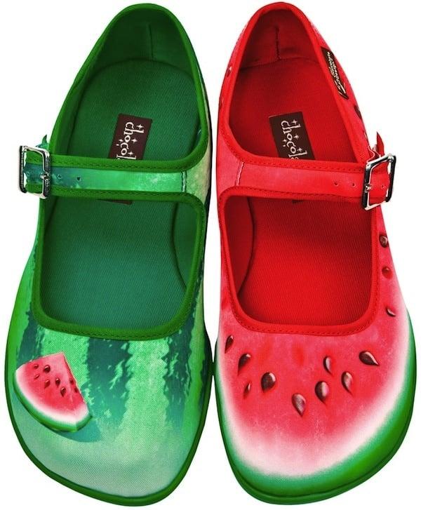 Chocolaticas Watermelon Mary Jane Flats