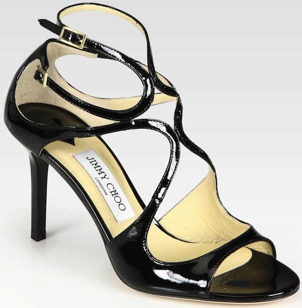 "Jimmy Choo ""Ivette"" Strappy Patent Leather Sandals"