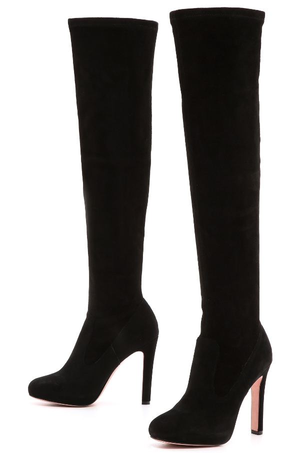 Jean-Michel Cazabat - Panpan Suede Over the Knee Boots