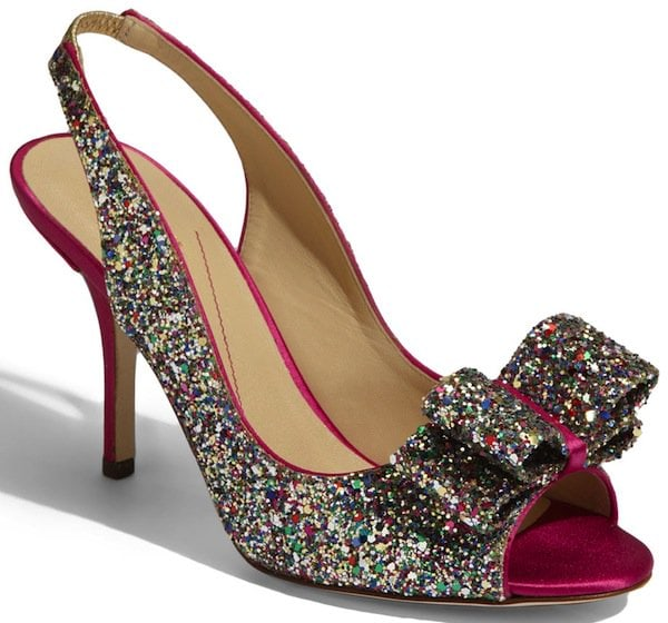"Kate Spade ""Charm"" Slingback Pump in Multiple Sparkle Glitter"