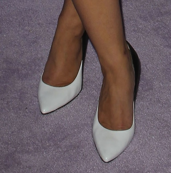 Katie Lowes wearing L.K. Bennett pumps