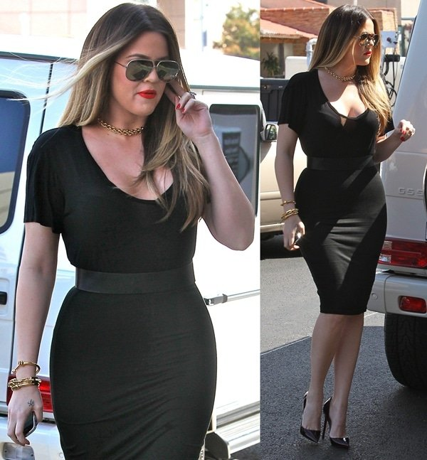 "Khloe Kardashian films an episode of ""Keeping Up with the Kardashians"""