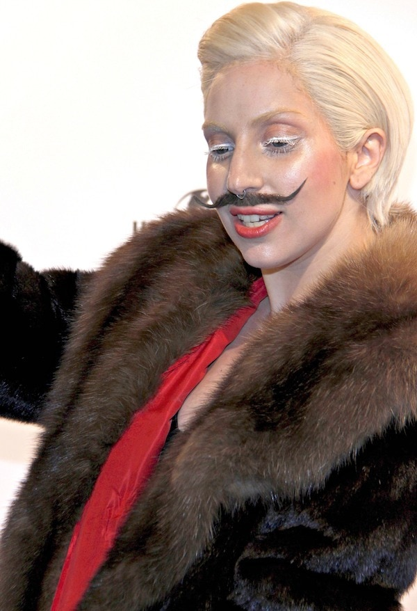 "Lady Gaga promoting her new album ""Artpop"""