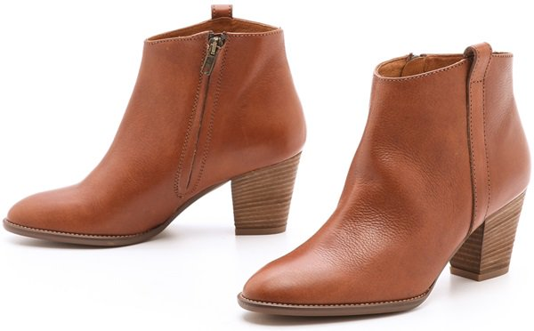 Versatile Madewell booties, cut from rich, pebbled leather