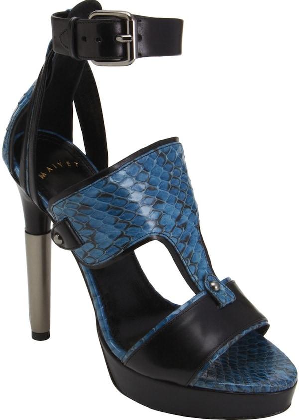 Maiyet Snakeskin Half-T Sandal