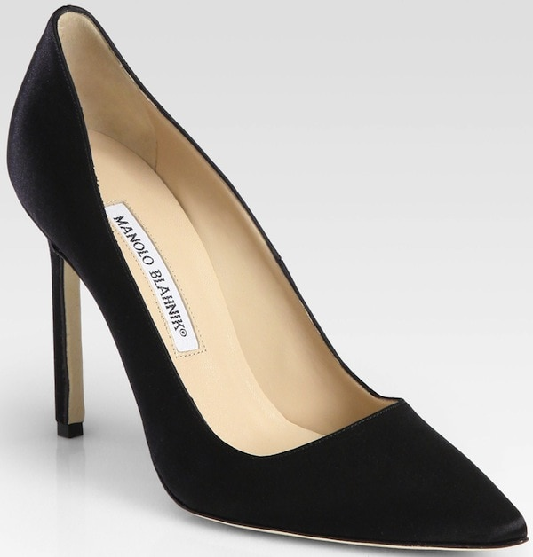 "Manolo Blahnik ""BB"" Satin Pump"