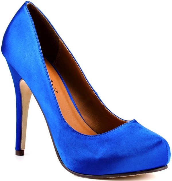 "Michael Antonio ""Love Me"" Pump in Blue Satin"