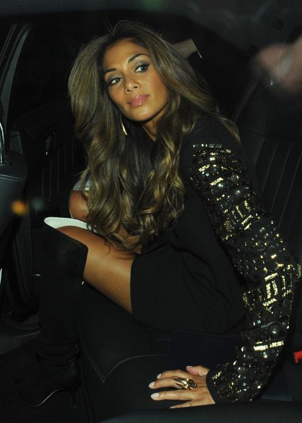 Nicole Scherzinger Leaves Cafe de Paris