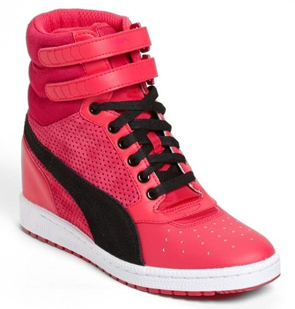 Puma Sky Wedge Sneakers in Virtual Pink