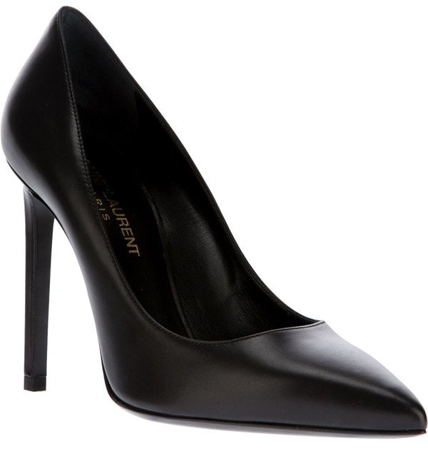"Saint Laurent ""Paris"" Pumps in Black"