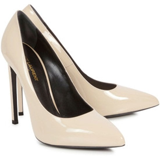 "Saint Laurent ""Paris"" Pumps in Nude"